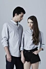 BoyfriendShirt - Light Grey
