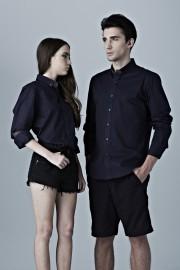 Boyfriend Shirt- Navy