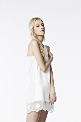 Dress D01 - Polka dot see through (White)