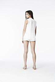 Blazer B06 - See it through sleeveless (White)