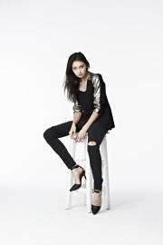 B07 Leather Shoulder Blazer - Black/Gold