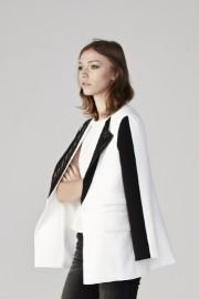 Stripe detail collar blazer